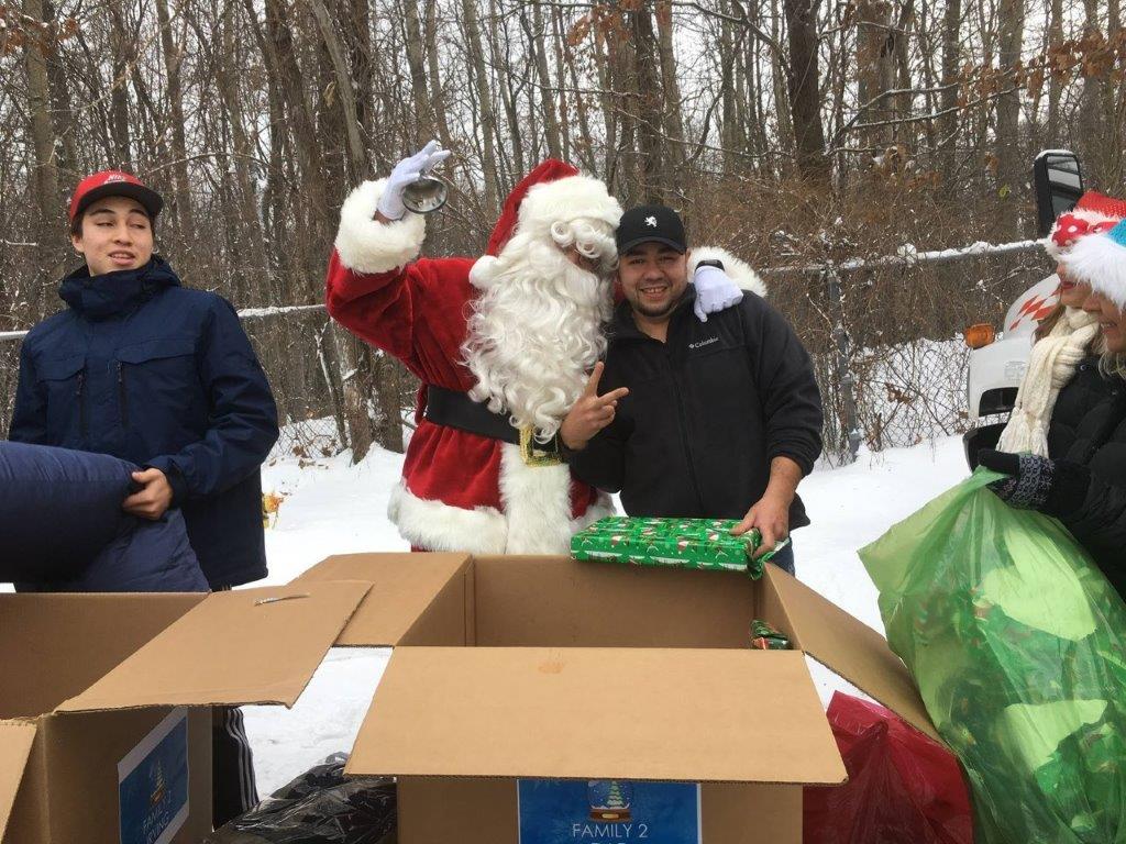 Family 2 Ricki and Santa Wrapping