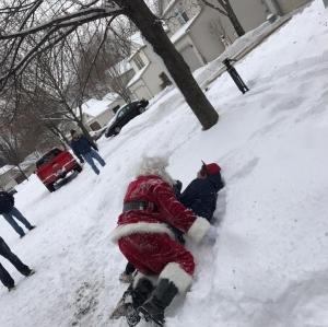 Family 3 Santa takes Kathy down